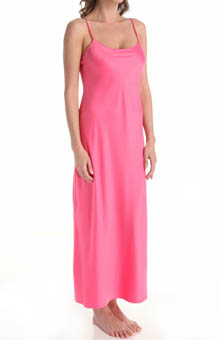 "Natori Sleepwear Solid Charmeuse Essentials 52"" Gown V73028"
