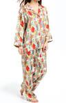 Dynasty Printed Micro Satin Pajama Set Image