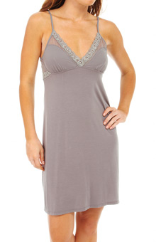 Natori Sleepwear Feathers Chemise with Mesh