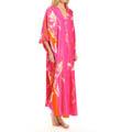 Natori Sleepwear Izabella Printed Charmeuse Tunic Caftan X70080