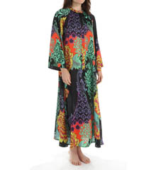 Natori Sleepwear Anna Printed Satin Georgette Caftan X70246