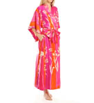 Izabella Printed Charmeuse Robe Image