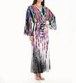Natori Sleepwear Tatiana Printed Satin Georgette Robe X74081