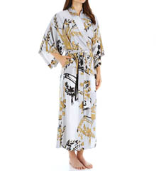 Natori Sleepwear Alexandra Printed Charmeuse Robe X74171