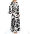 Natori Sleepwear Tuvalu Printed Silky Charmeuse Zip Caftan Y70305