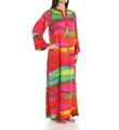 Natori Sleepwear Mirage Silky Satin Georgette Zip Caftan Y70407