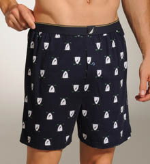 J-Class Golf Shield Print Knit Boxer