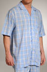 Intercoastal Plaid Short Sleeve Camp Sleep Shirt