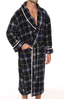 Nautica Printed Plush Robe