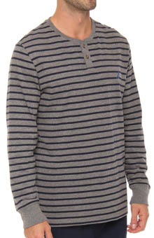Nautica Long Sleeve Stripe Henley