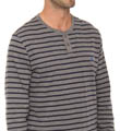 Long Sleeve Stripe Henley Image