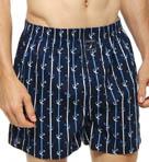 Anchor Stripe Woven Boxer