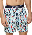 Nautica Buoy Print Knit Boxer 307941