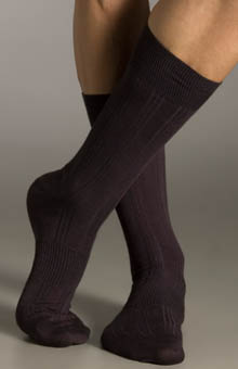 Silk Blend Ribbed Socks