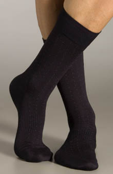 Silk Blend Pin Dot Socks