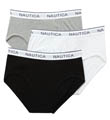 Black Assorted Full Cut Briefs - 3 Pack Image