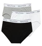 Nautica Black Assorted Full Cut Briefs - 3 Pack UR3412