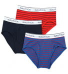 Nautica Navy Assorted Full Cut Briefs - 3 Pack UR3416