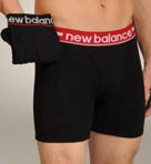 New Balance Red Contrast Waistband Boxer Briefs - 2 Pack 50921