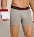 New Balance 2 Pack Contrast Waistband Boxer Brief 50922