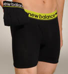 New Balance Lime Contrast Waistband Boxer Briefs - 2 Pack 50923