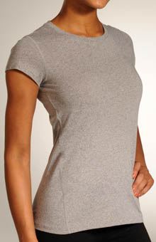 Heathered Short Sleeve Top