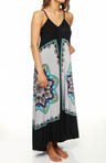 Nicole Miller Border Bouquet Maxi Gown 281556