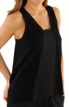 Nicole Miller Washed Satin Tank