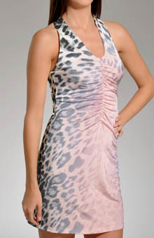 Luminous Leopard Shirred Front Chemise