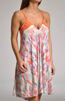 Dye Blast Printed Border Chemise