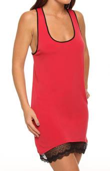 Nicole Miller Simplicity Lace Hem Tank Chemise 282453