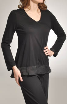 Solid V Neck Swing Top