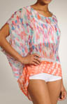 Nicole Miller Dye Blast Printed Border Lounge Tee 286321