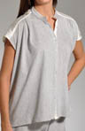 Dye Blast Satin Toke Button Front Shirt