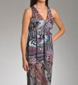 Nicole Miller Wild Animal Printed Maxi Gown 288405