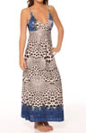 Snow Leopard Long Gown