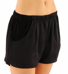 Nicole Miller Washed Satin Shorts 288606