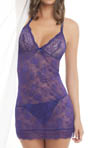 Sheer Midnight Lace Chemise With G-string