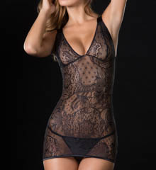 Oh La La Cheri Lace Babydoll with Elastic Strap Back Detail 2213