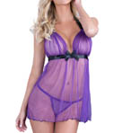 Mesh Halter Babydoll and G-String Set Image