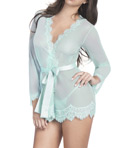 Eyelash Robe with Satin Sash and G-String Image