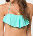 Solids Ruffle Swim Top Image