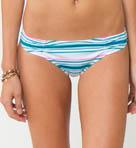 Beach Stripe Cinched Basic Swim Bottom Image