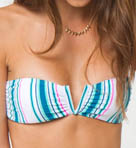 O'Neill Beach Stripe V Bandeau Swim Top 14474108