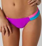 Color Block Tab Side Swim Bottom