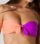 Color Block Bandeau Swim Top