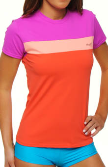 Color Block Rashguard Tee