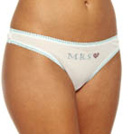 OnGossamer Mrs Mesh Hip G Thong With Contrast Trim 022503M