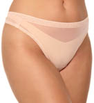 OnGossamer Mesh Plus Hi Cut Thong 022958X