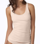 OnGossamer Cabana Cotton Shelf Bra Tank 027304